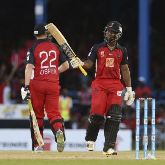 Lewis and O'Brien nearly finished the game off with their 129-run partnership