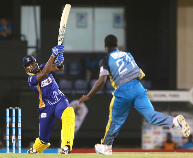 Pollard excelled with both the bat and ball