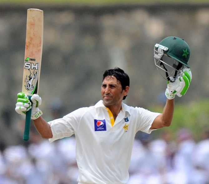 Khan is ecstatic after bringing up his 150