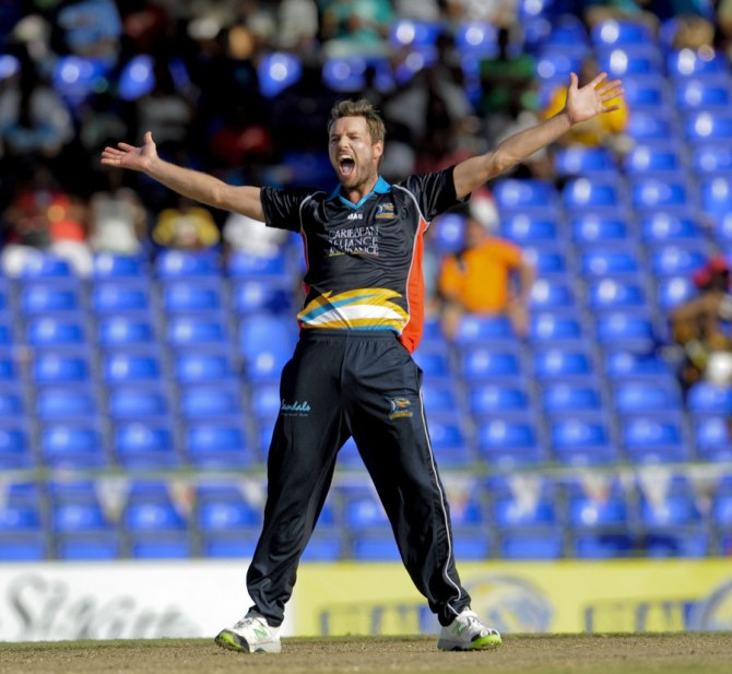 Laughlin finished with figures of 3-7 off three overs
