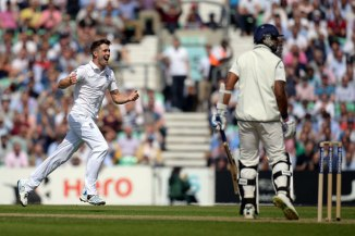 Woakes finished with figures of 3-30 off his 14 overs