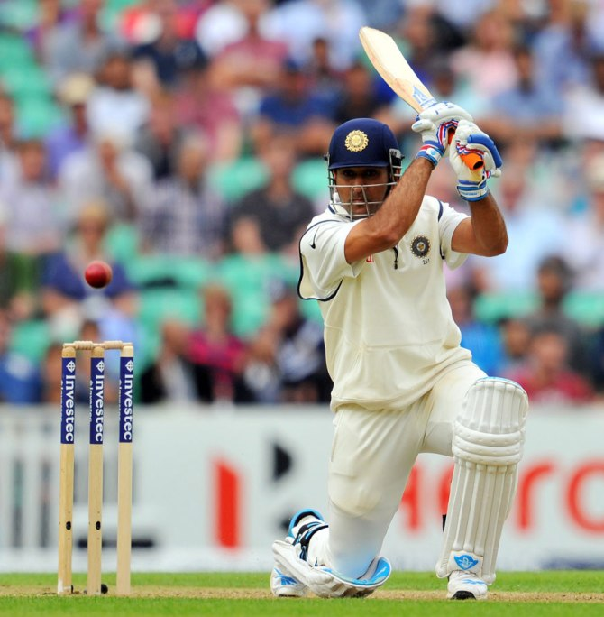 Dhoni smashed 15 boundaries and a six during his gutsy knock of 82