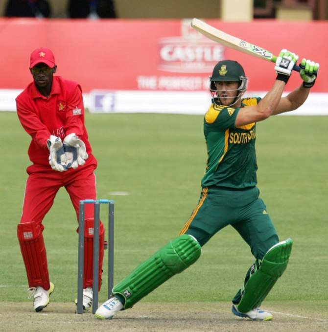 Du Plessis hit four boundaries during his knock of 59