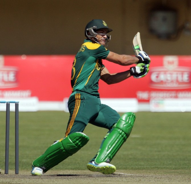 Du Plessis struck three boundaries during his knock of 55