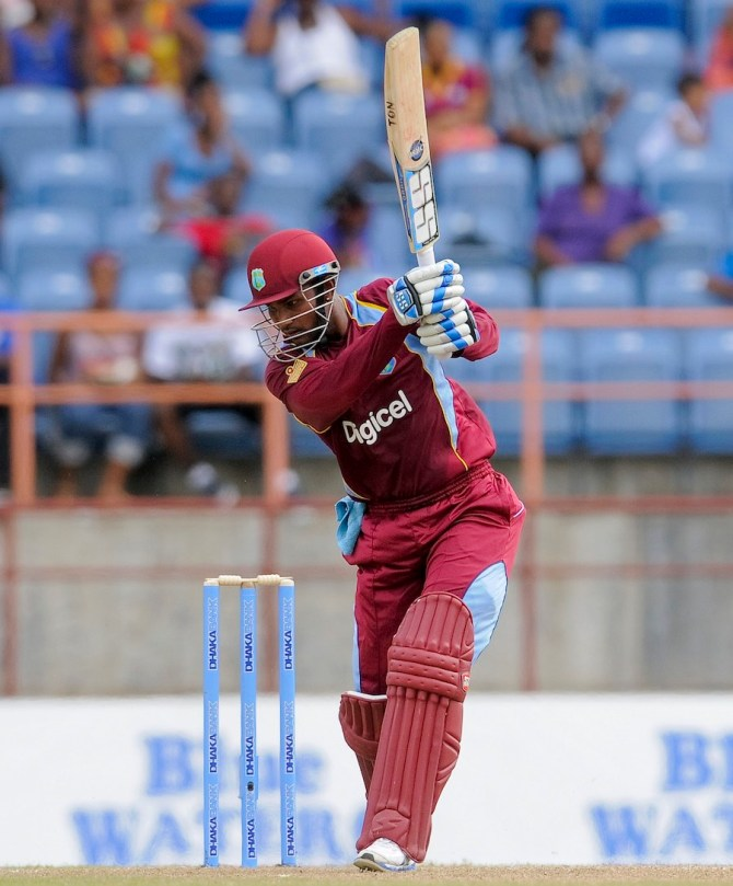 Ramdin struck six boundaries and a six during his knock of 74