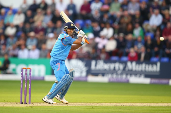 Dhoni's good form with the bat continued