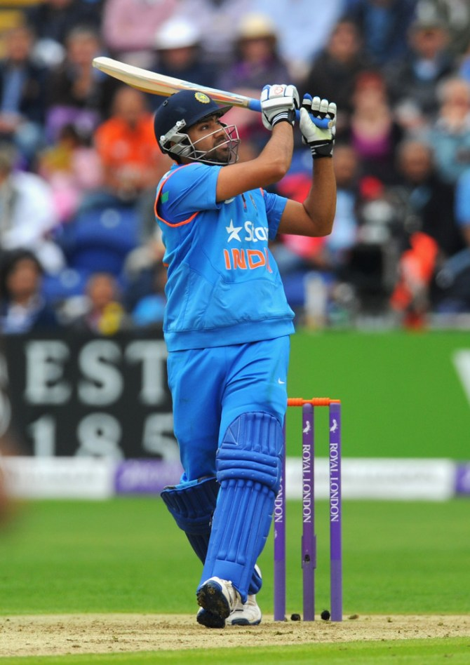 Sharma hit four boundaries and a six during his knock of 52