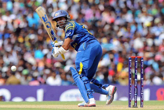 Dilshan hit nine boundaries during his unbeaten knock of 50