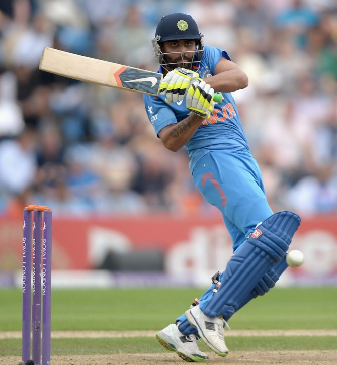 Jadeja hit nine boundaries and two sixes during his gutsy knock of 87