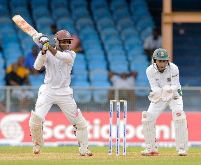 Chanderpaul hit three boundaries during his unbeaten knock of 51
