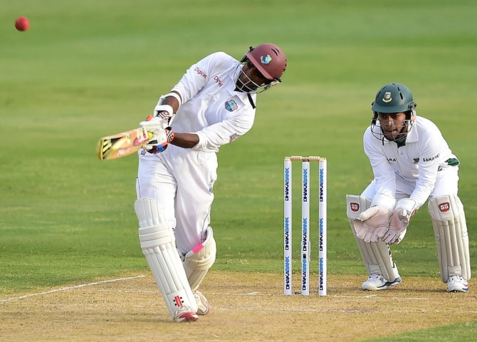 Chanderpaul hit eight boundaries during his unbeaten knock of 84
