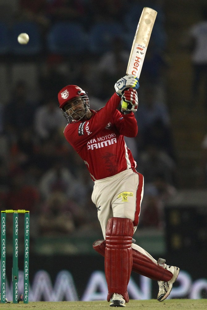 Sehwag hit five boundaries and a six during his innings of 52