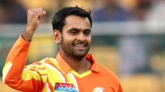 Hafeez will be banned from bowling in the CLT20 and all BCCI events if he is reported again
