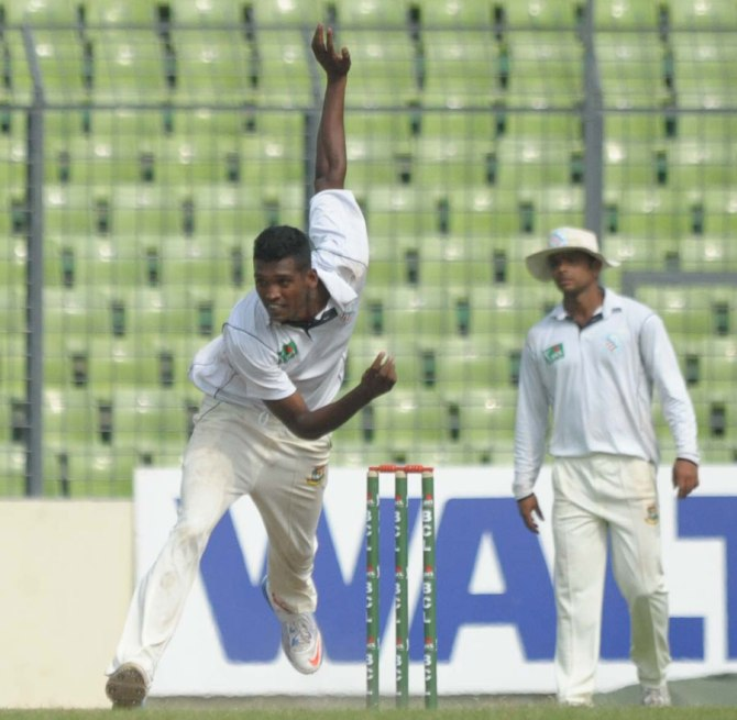 Hossain failed to take a single wicket in the first Test