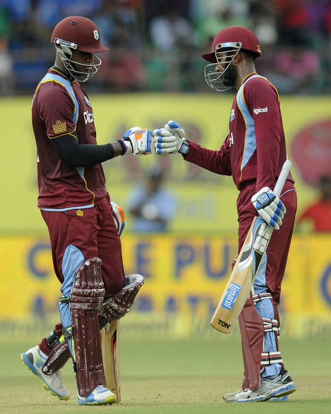 Samuels and Ramdin now hold the record for the West Indies' highest fourth-wicket partnership against India in an ODI