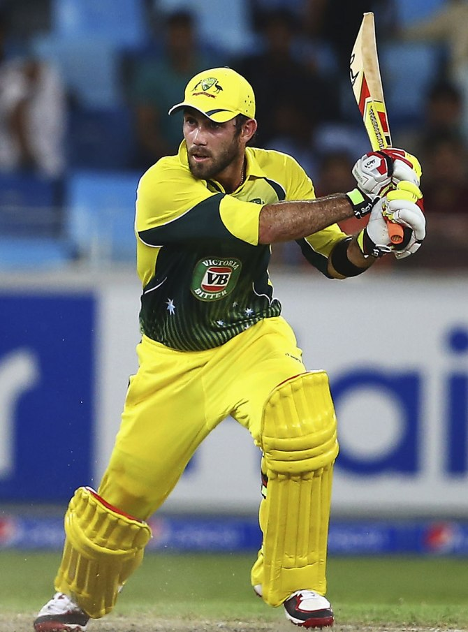 Maxwell struck nine boundaries and a six during his game-winning knock of 76