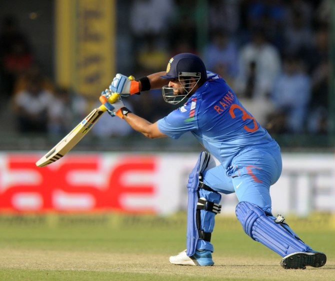 Raina's excellent form with the bat continued