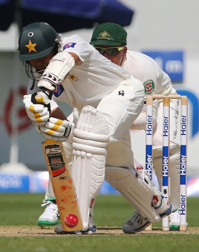 Ali hit six boundaries during his cautious knock of 53