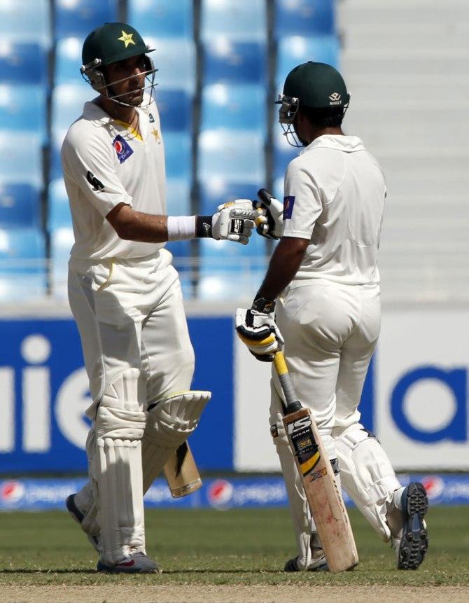 Ul-Haq (left) scored a vital 69