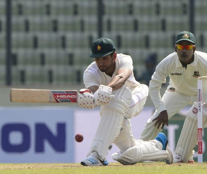Raza hit six boundaries during his valiant innings of 51