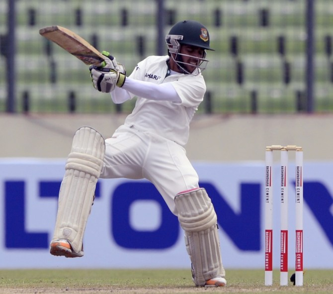 Haque played some lovely shots during his knock of 53