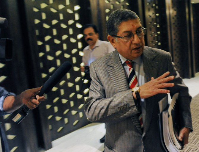 Srinivasan has been found not guilty of betting or fixing