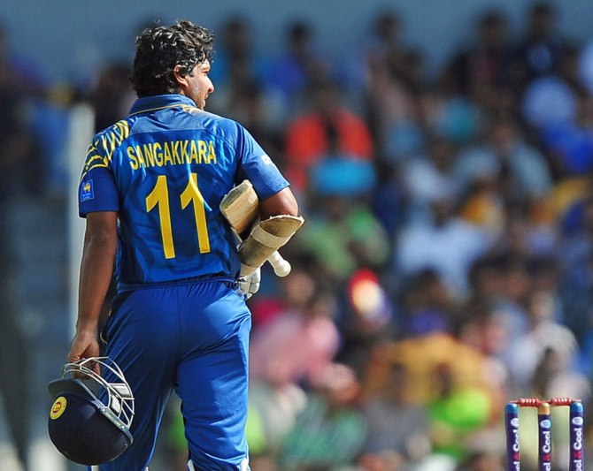 Sangakkara scored 13 and 61 in the first two ODIs