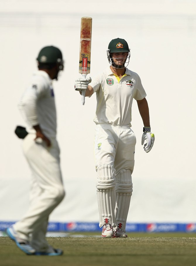 Marsh's gutsy knock of 87 was not enough to stop his side from being bowled out for 261
