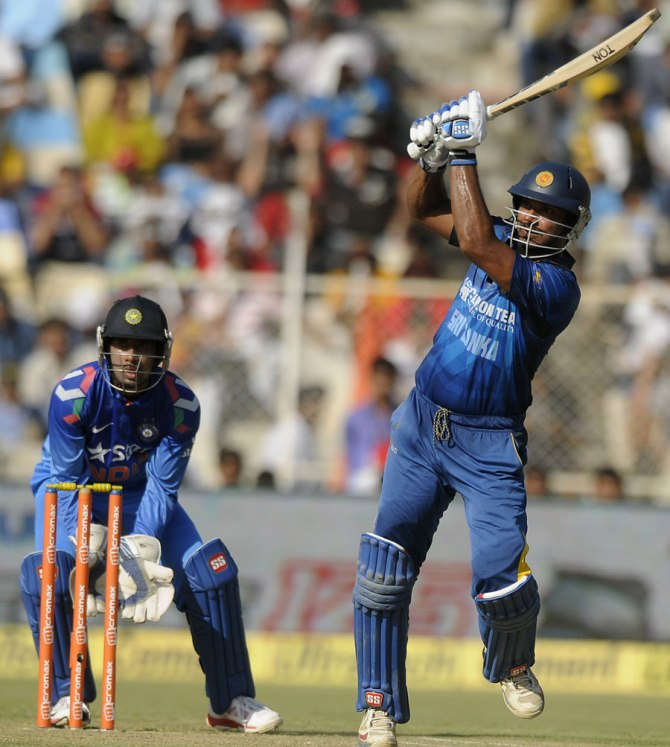 Sangakkara scored his 87th ODI half-century