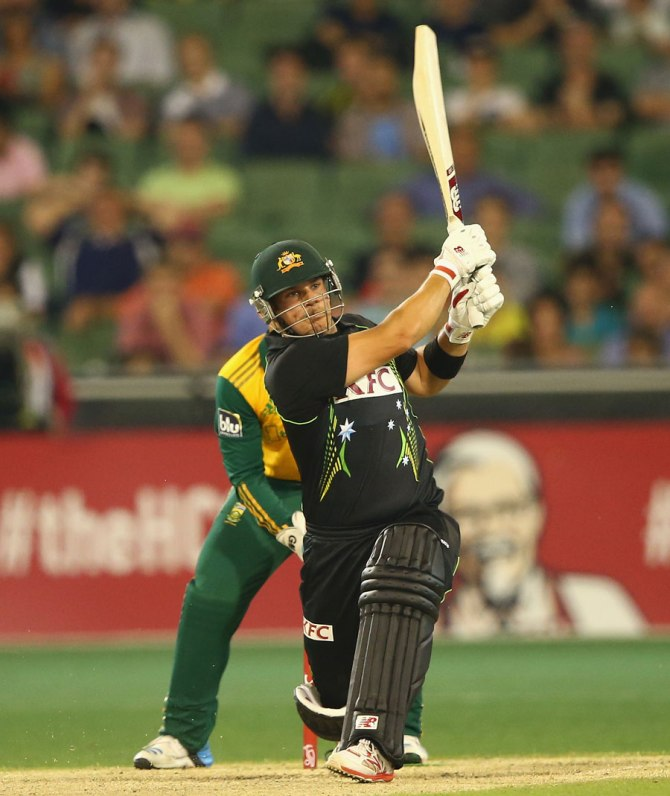 Finch smashed eight boundaries during his entertaining innings of 44
