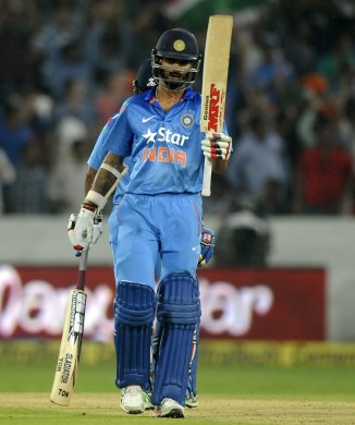 Dhawan hit eight boundaries and a six during his knock of 91