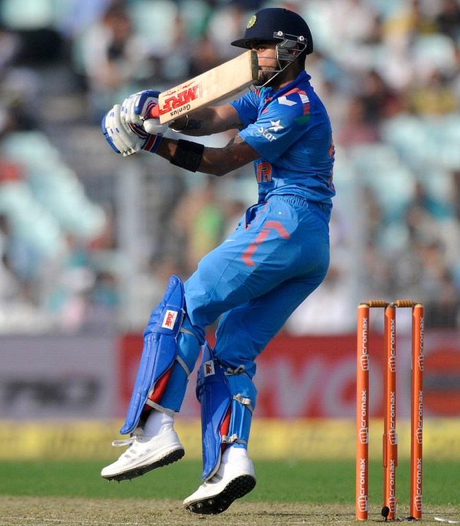 Kohli struck six boundaries during his knock of 66