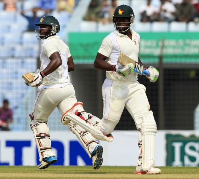 Chigumbura and Chakabva both made half-centuries during their 113-run partnership