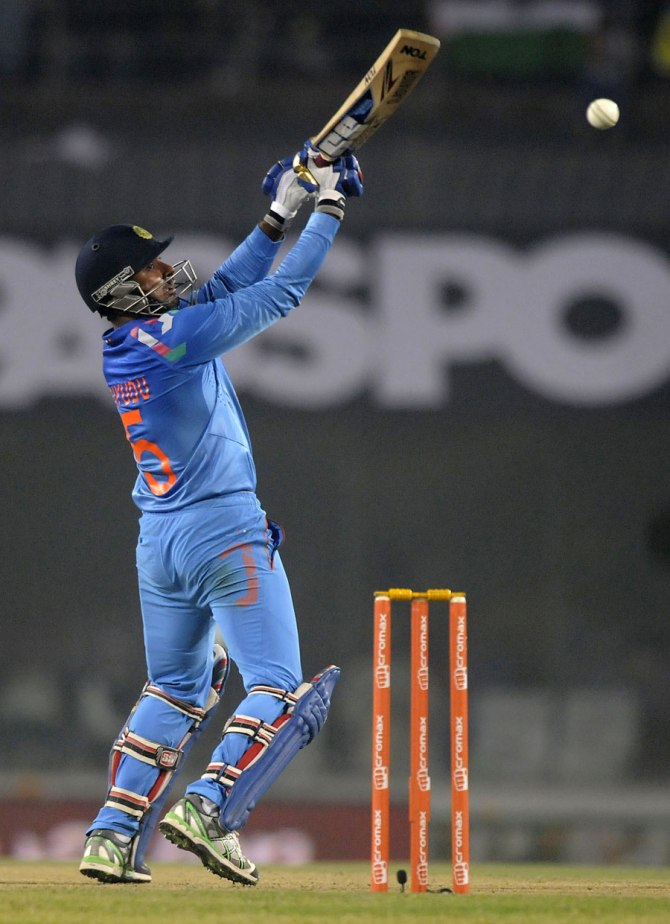 Rayudu hit eight boundaries and a six during his innings of 59