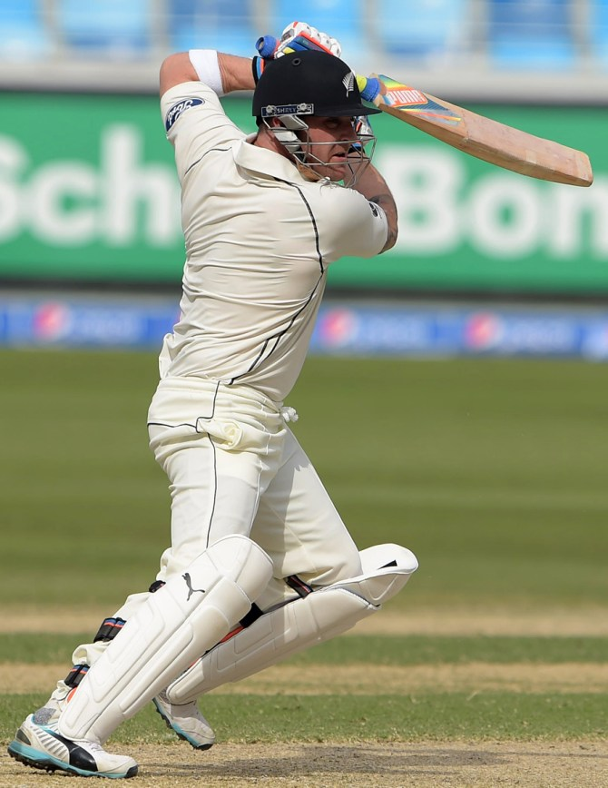 McCullum hit four boundaries and two sixes during his solid knock of 43