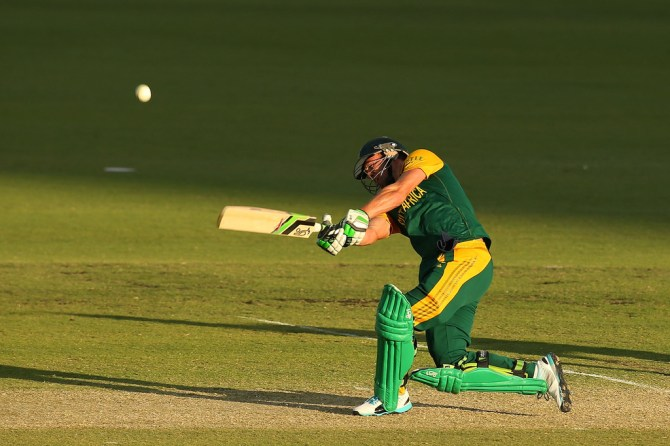 De Villiers scored a valiant 80