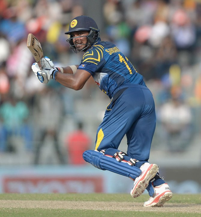 Sangakkara was named Man of the Match for his superb knock of 86