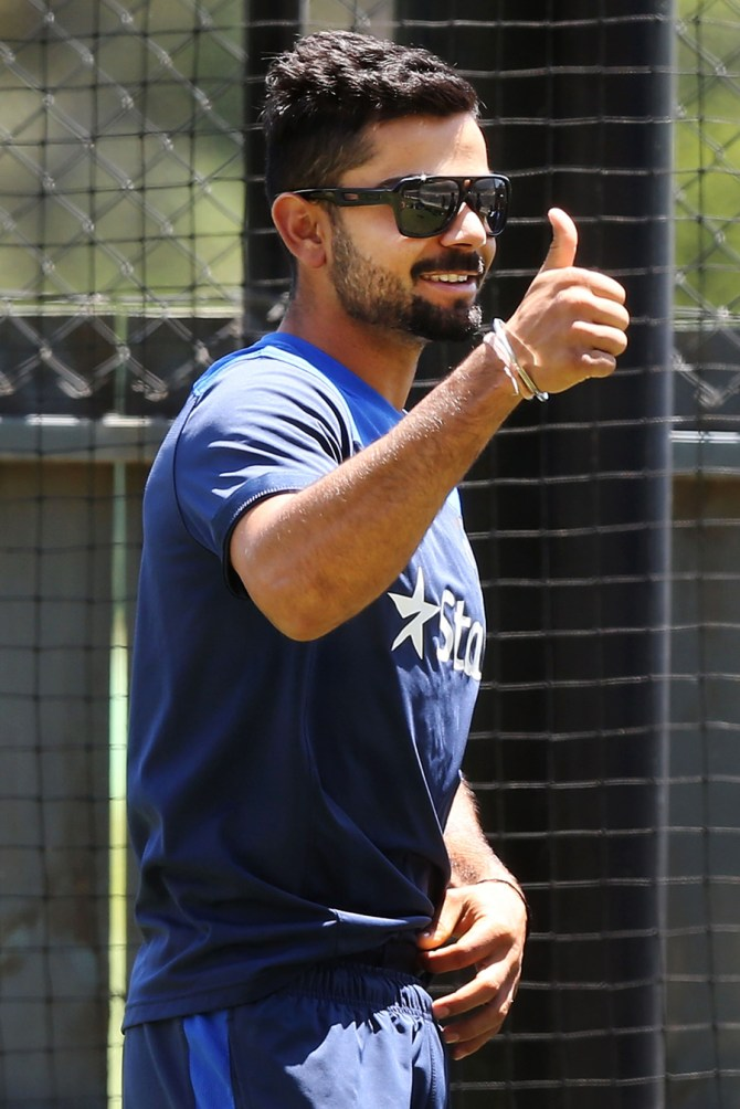 This will be Kohli's first Test match as captain