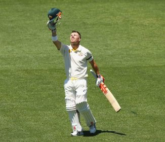 Warner dedicated his 10th Test century to Phillip Hughes
