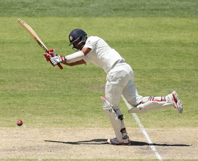Pujara played some gorgeous shots during his knock of 73
