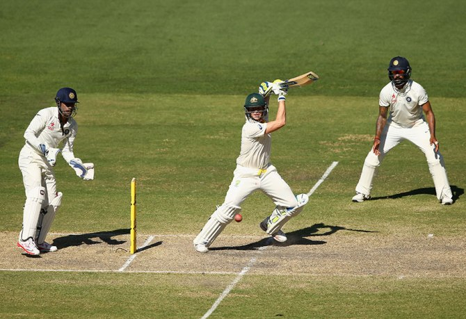 Smith hit five boundaries during his unbeaten knock of 52