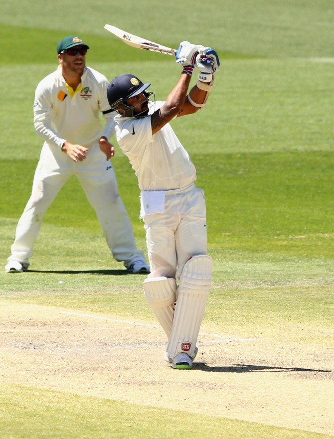 Vijay hit 10 boundaries and two sixes during his valiant knock of 99