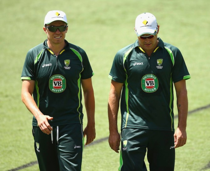Sidde (left) and Harris (right) have both been left out of the squad for the second Test in Brisbane