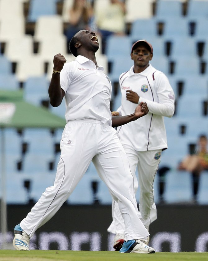 Roach dismissed Alviro Petersen and Faf du Plessis on day one