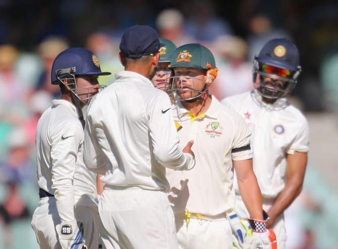 Kohli, Dhawan and Warner were all fined for their heated disputes