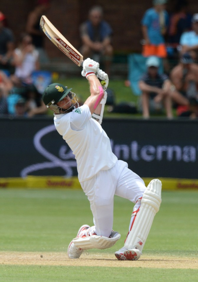 Steyn equalled the record for the fourth-fastest half-century in Test history