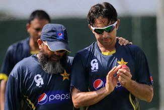 Ahmed (left) is convinced that spinners will have a major impact during the World Cup