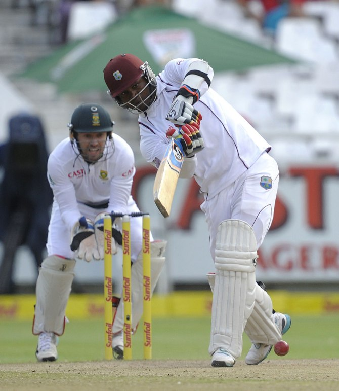 Samuels hit nine boundaries and two sixes during his knock of 74