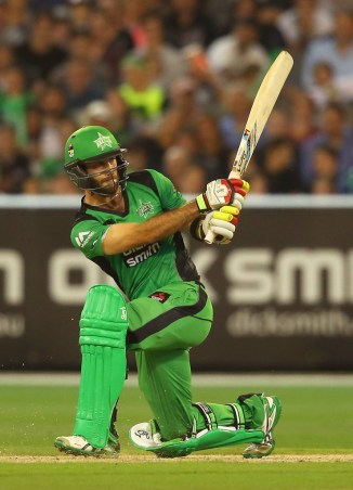 Maxwell hammered two boundaries and four sixes during his entertaining innings of 66