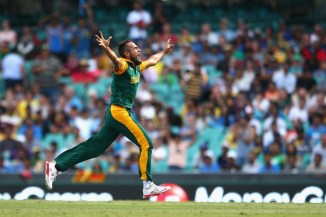 Tahir was named Man of the Match for his bowling figures of 4-26 off 8.2 overs